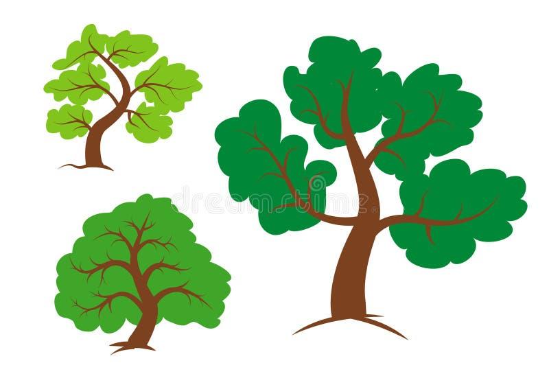Clipart de los árboles ilustración del vector