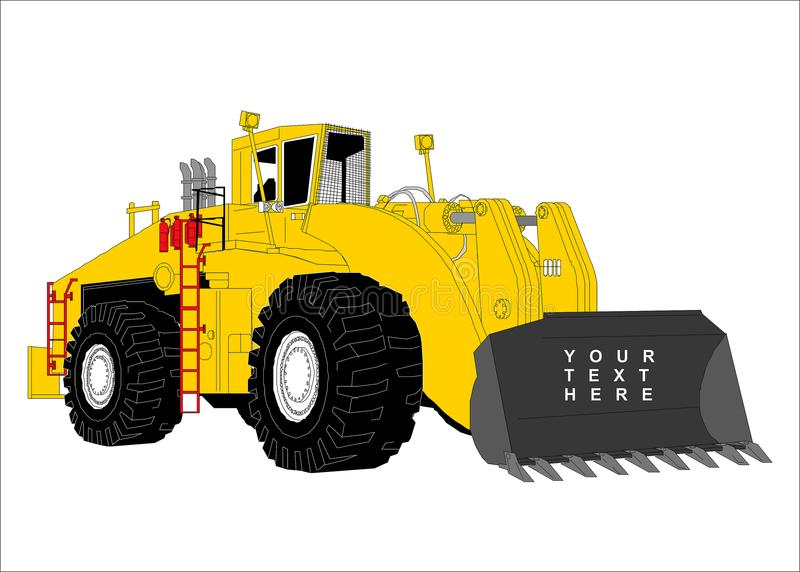 Clipart del bulldozer illustrazione di stock
