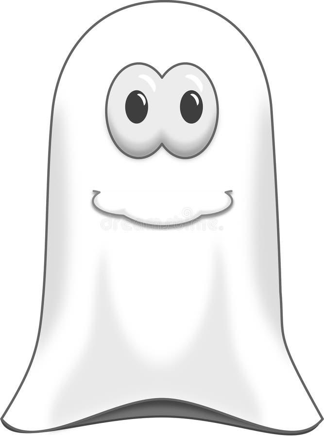 Clipart del ejemplo del fantasma del día de fiesta de Halloween fotos de archivo