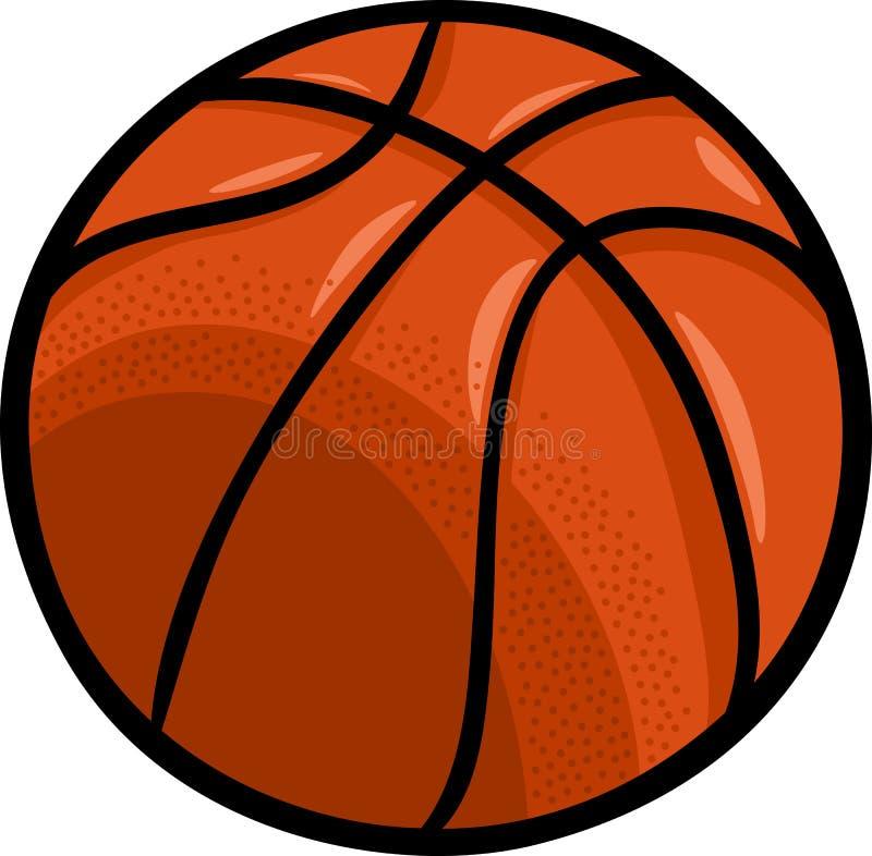 Clipart del fumetto della palla di pallacanestro illustrazione di stock