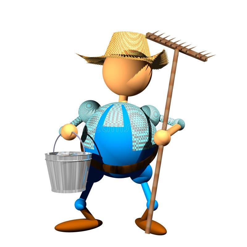 Clipart del granjero foto de archivo libre de regalías