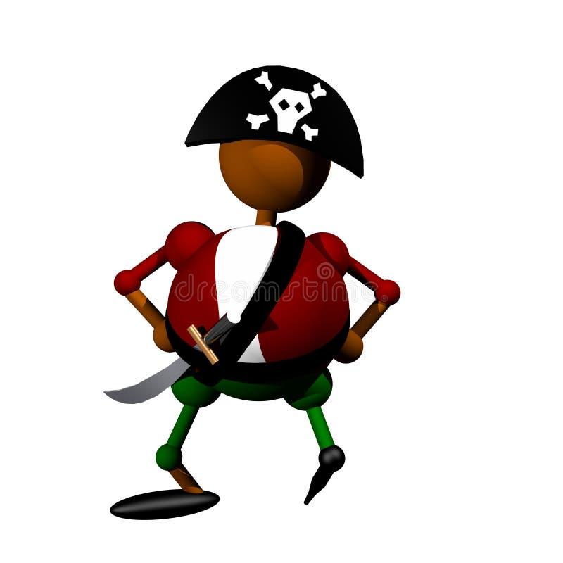 Clipart del pirata fotos de archivo libres de regalías