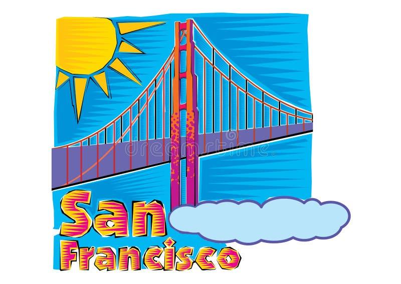 Clipart di golden gate bridge in San Francisco Clipart illustrazione vettoriale