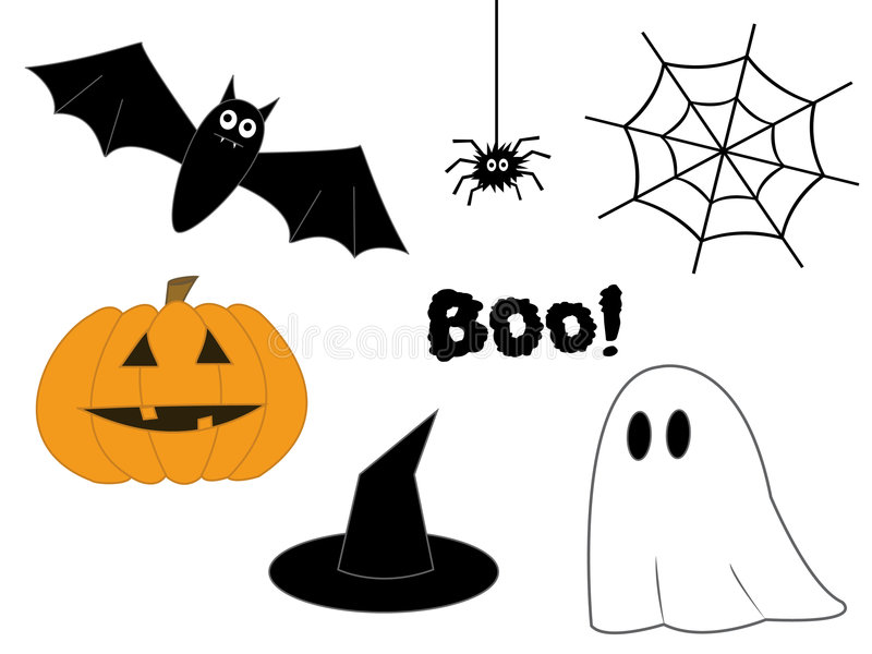 Clipart di Halloween. fotografia stock libera da diritti