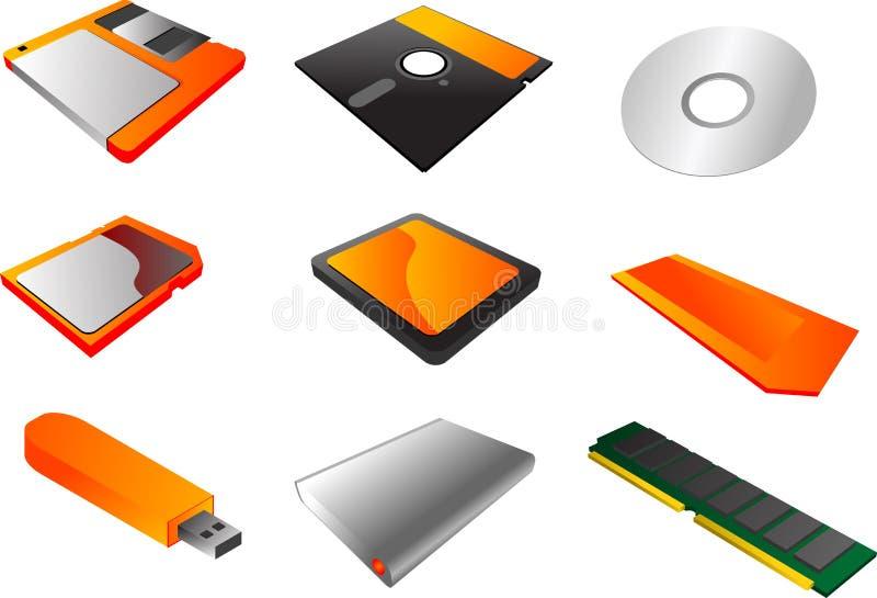 Clipart di strumenti di memorizzazione illustrazione di stock