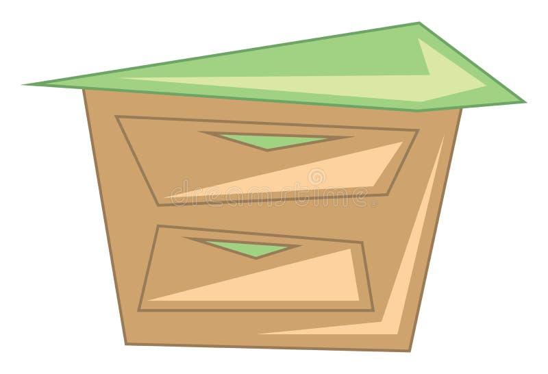 Clipart di un cavalletto notturno una bellissima tavola di legno adatta per l'esecuzione di compiti in ufficio e per lo studio di illustrazione di stock