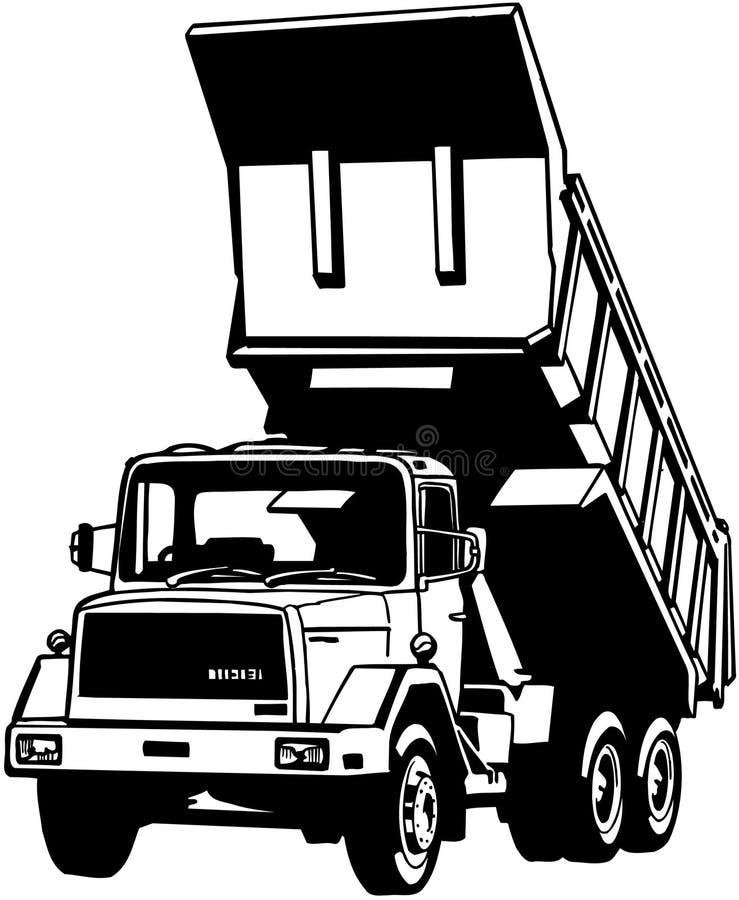 Clipart di vettore del fumetto dell'autocarro con cassone ribaltabile illustrazione vettoriale