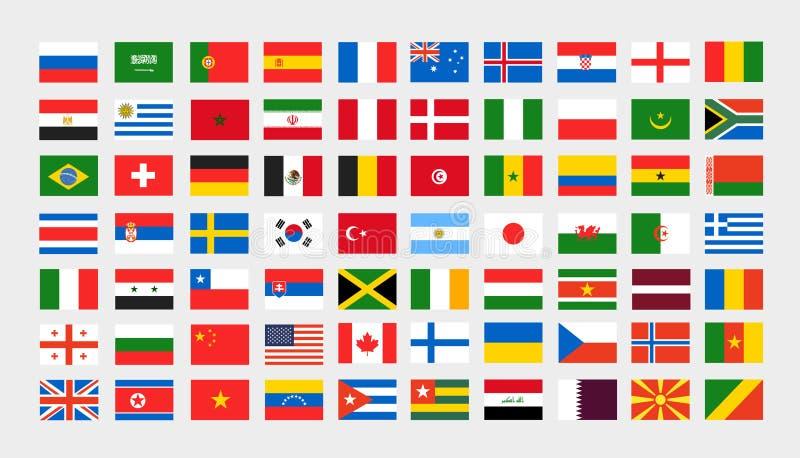 Clipart differente delle bandiere nazionali Vettore illustrazione vettoriale