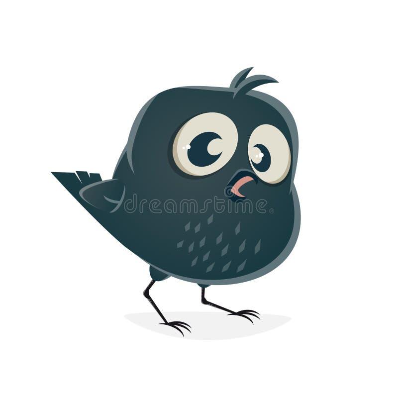 Clipart divertido del cuervo libre illustration