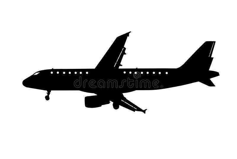 Clipart do avião ilustração stock