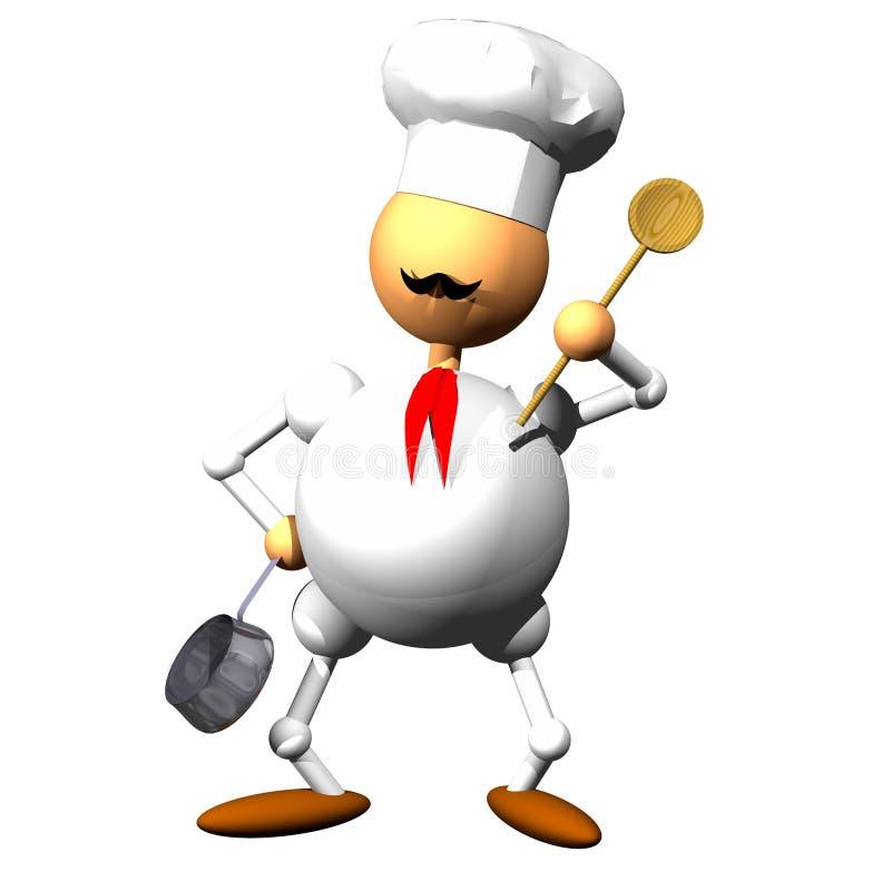 Clipart do cozinheiro chefe ilustração do vetor