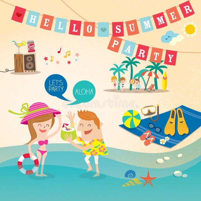 Clipart do fundo dos desenhos animados das férias de verão ilustração royalty free