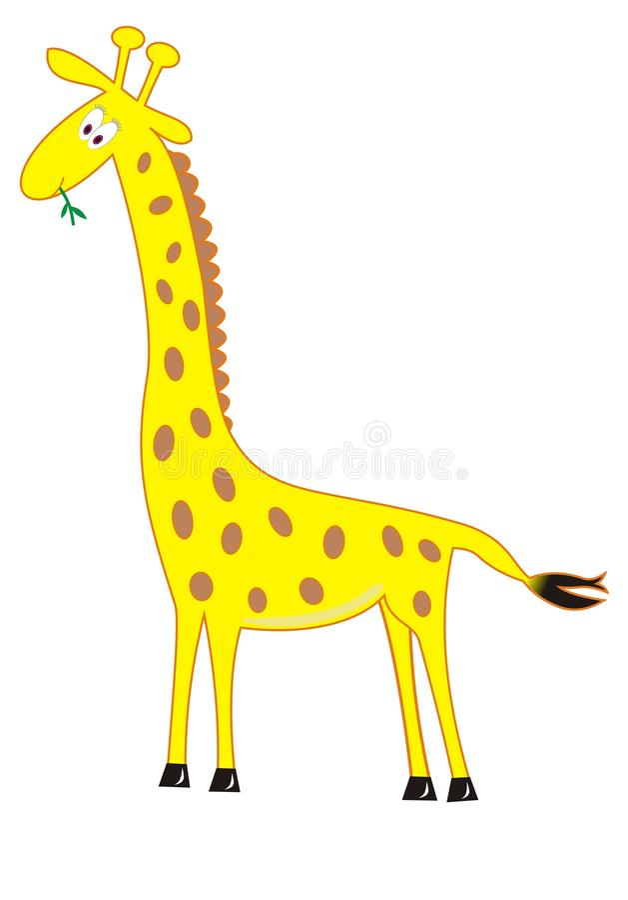 Clipart do girafa ilustração stock