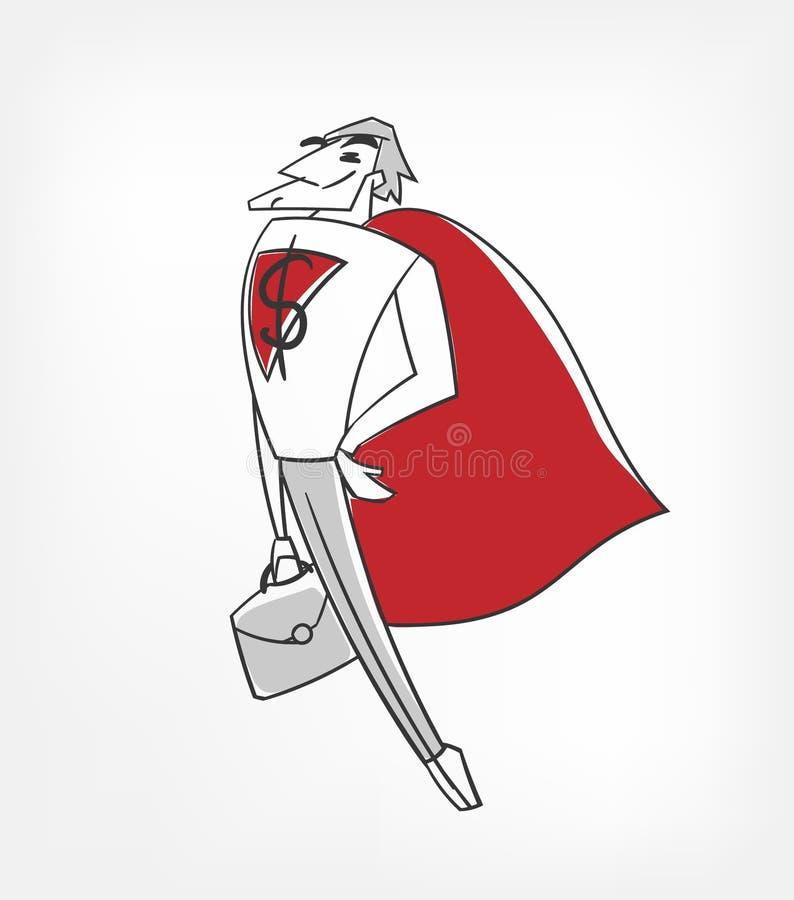 Clipart eccellente dell'illustrazione del carattere di vettore dell'uomo di affari illustrazione di stock