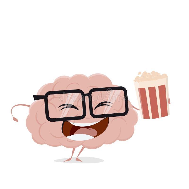 Clipart heureux de nourriture de cerveau illustration de vecteur