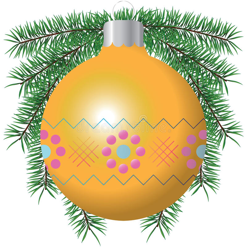 Clipart Illustration of Christmas  Ornaments