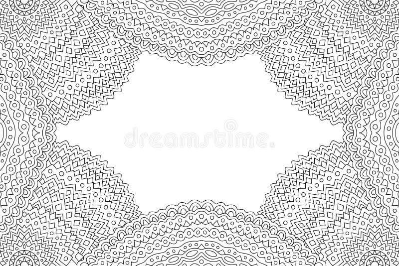 Clipart (images graphiques) abstrait avec le cadre linéaire détaillé illustration de vecteur