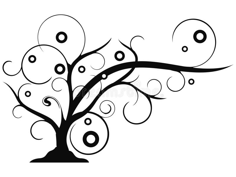 Clipart (images graphiques) croissant d'arbre abstrait illustration stock