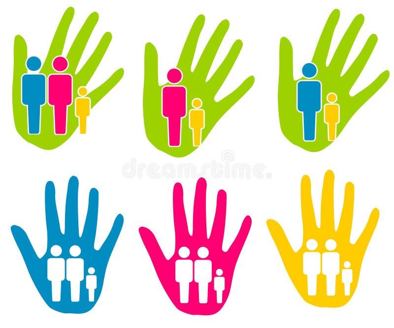 Clipart (images graphiques) d'aide de support de famille illustration libre de droits