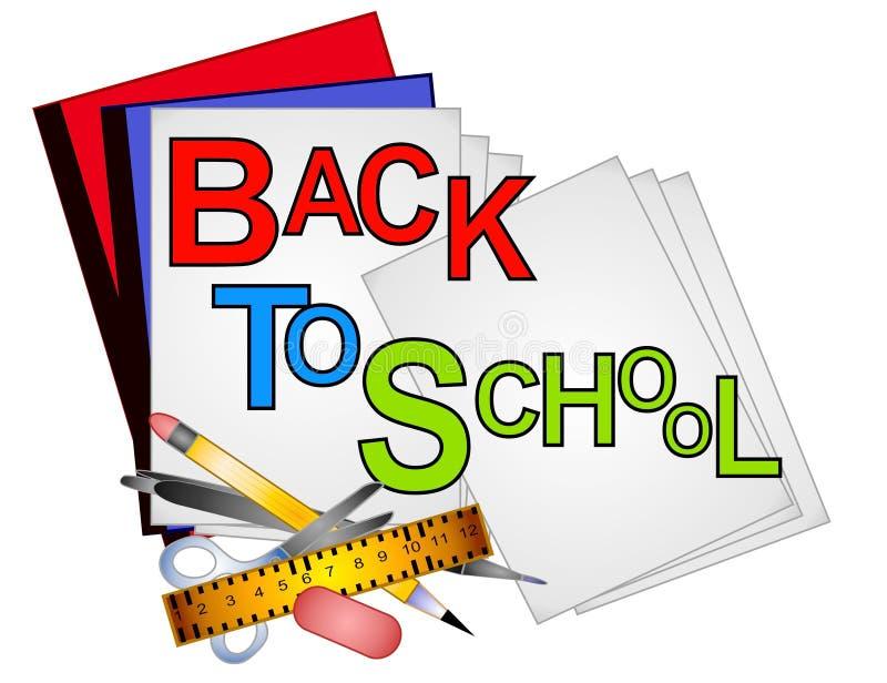 Clipart (images graphiques) d'approvisionnements d'école 4 illustration stock