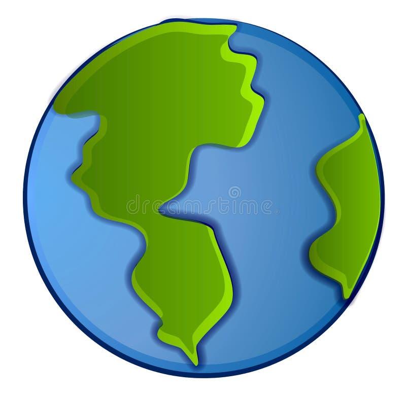 Clipart (images graphiques) d'isolement de la terre de planète illustration stock