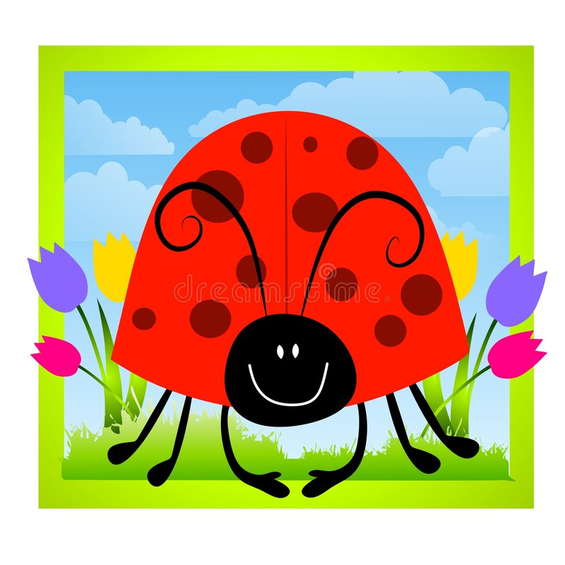 Clipart (images graphiques) de coccinelle de Cartoonish illustration libre de droits