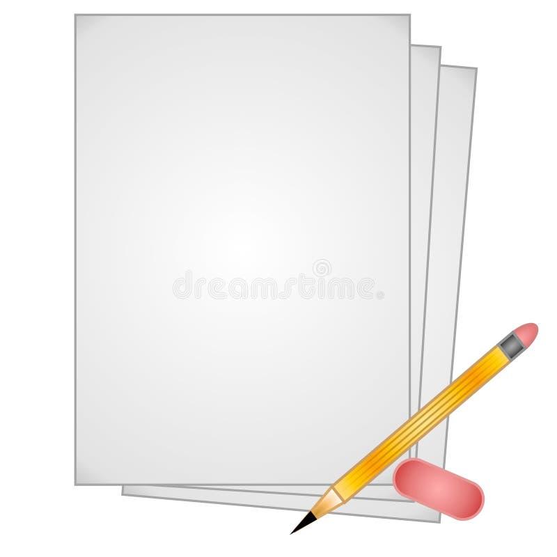 Clipart (images graphiques) de papier de gomme à effacer de crayon illustration libre de droits