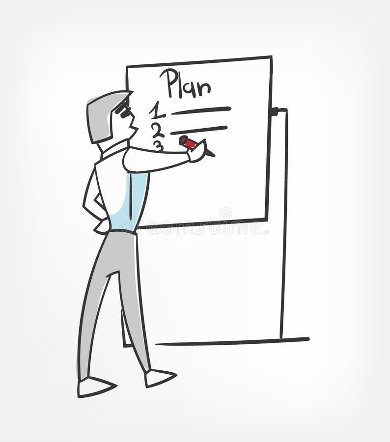 Clipart (images graphiques) de planification de caractère d'illustration de vecteur d'isolement illustration stock