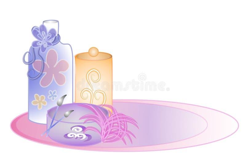 Clipart (images graphiques) de produits de beauté de parfum illustration de vecteur