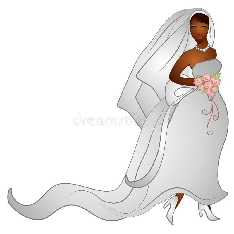 Clipart (images graphiques) de sourire heureux de mariée illustration libre de droits