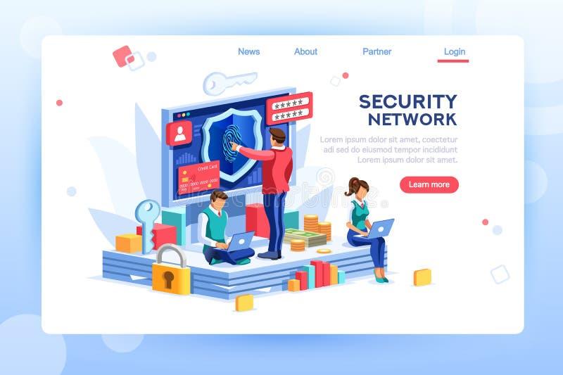 Clipart (images graphiques) de vecteur de concept de sécurité illustration libre de droits