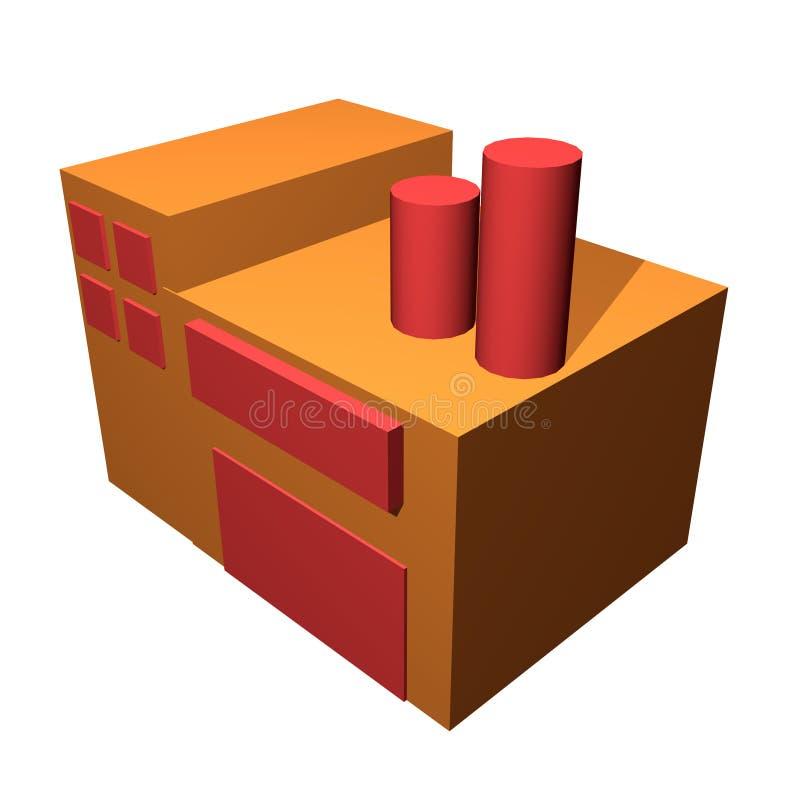 Clipart (images graphiques) générique simple d'usine illustration de vecteur