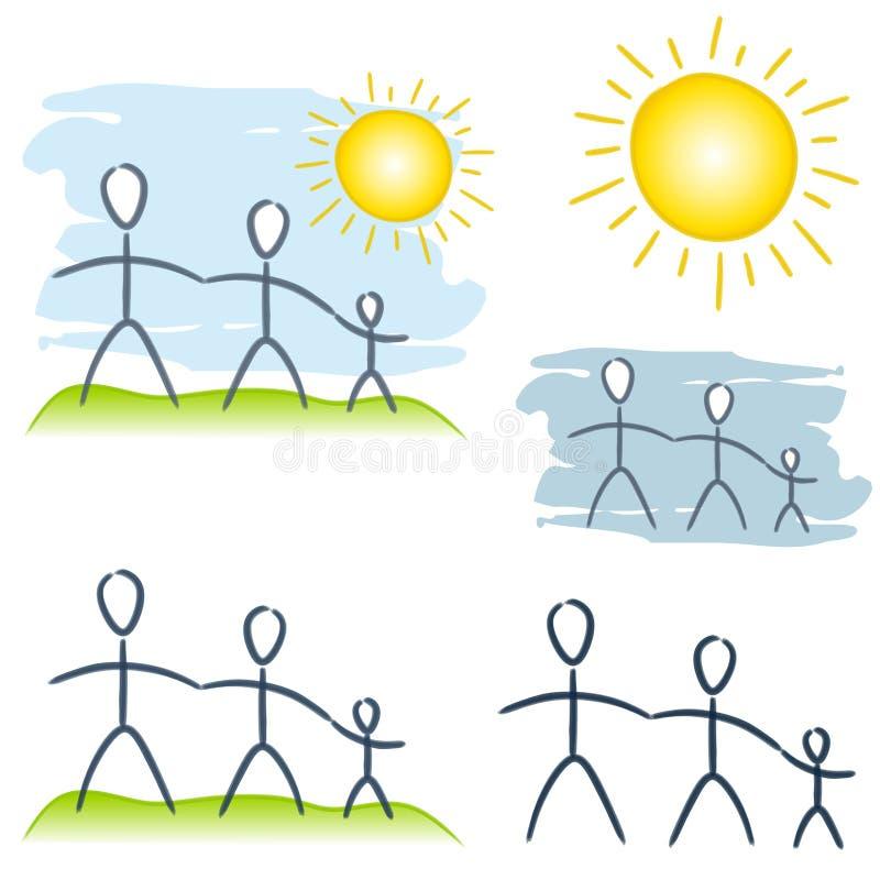 Clipart (images graphiques) simple d'élément de famille illustration libre de droits