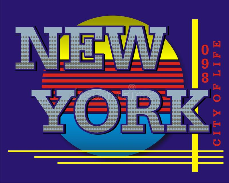 Clipart images. New york city of life graphic design for tshirt illustation royalty free illustration