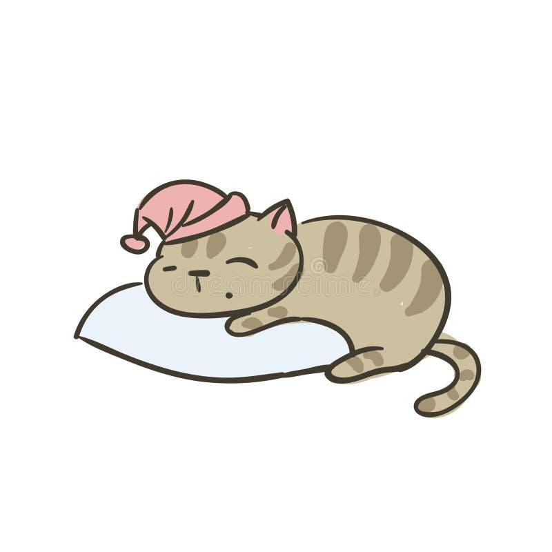 Clipart isolato vettore sveglio del gatto di scarabocchio piccolo illustrazione vettoriale