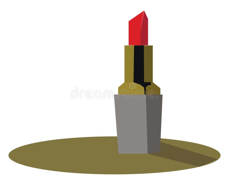 Clipart of a red lipstick vector or color illustration royalty free illustration