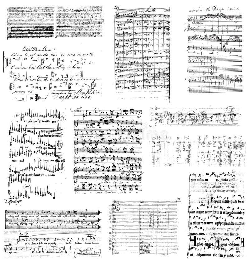 Clipart ou brosse de lecture musical illustration libre de droits