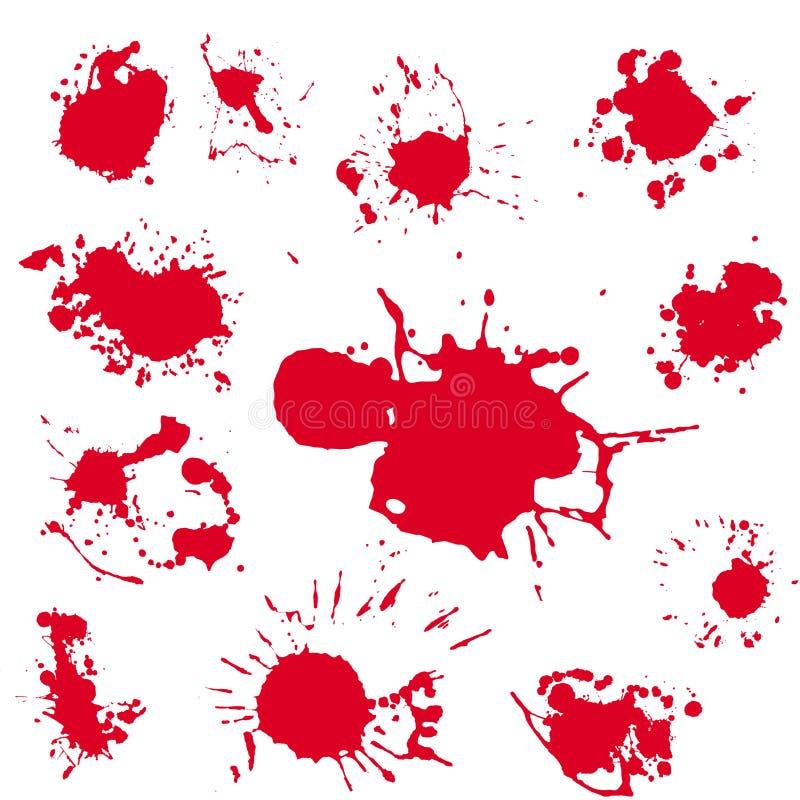 Clipart réaliste de vecteur de tache de sang Peinture de rouge d'éclaboussure illustration de vecteur