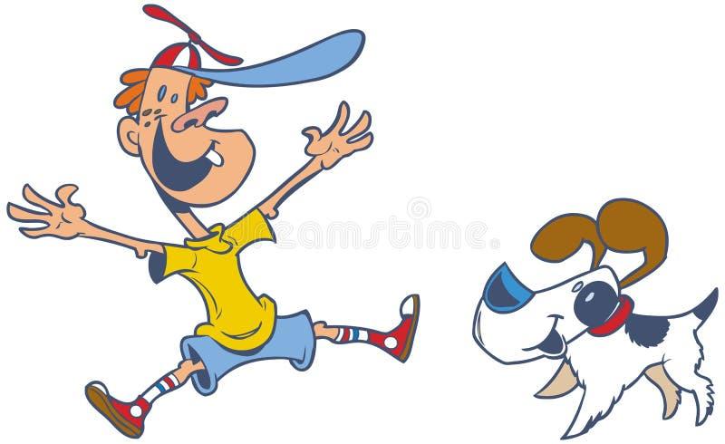 Clipart retro dos desenhos animados do vetor do estilo de um b de salto ilustração royalty free