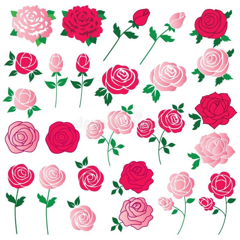 Clipart rose de classique illustration de vecteur