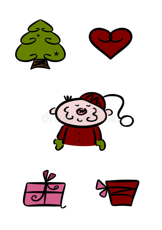 Download Clipart set: Christmas stock illustration. Illustration of christmas - 16897657