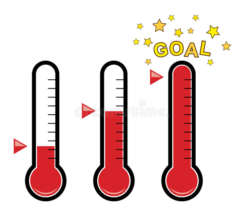 Download Clipart Set Of Goal Thermometers, Vector Stock Vector - Illustration of different, celsius: 86971110