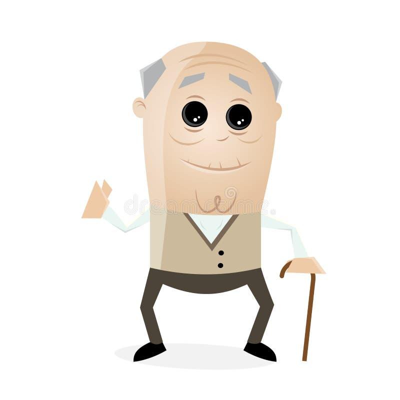 Clipart starszy mężczyzna ilustracja wektor
