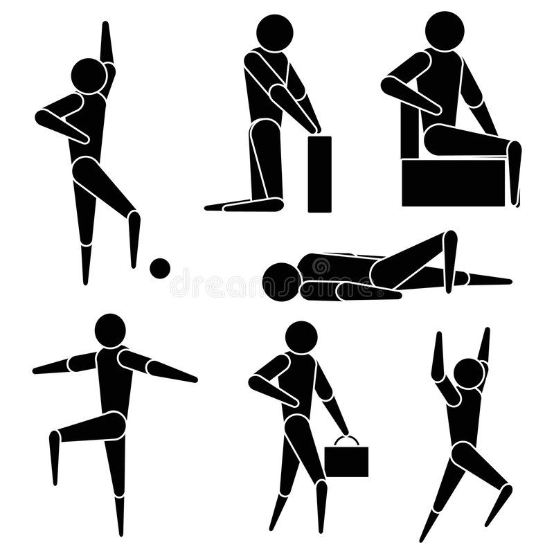 Download Clipart style people stock vector. Illustration of exercise - 455099