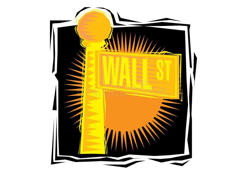 Clipart van Wall Street-teken in lager Manhattan New York royalty-vrije illustratie