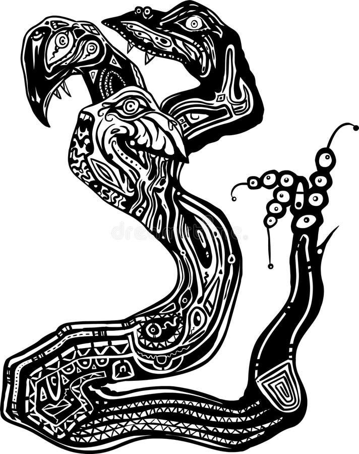 clipartdiagramhydra royaltyfri illustrationer