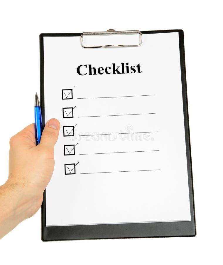 clipboard контрольного списока стоковые фото