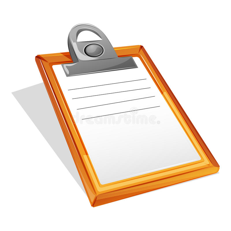 Clipboard. Illustration of clipboard on isolated background vector illustration