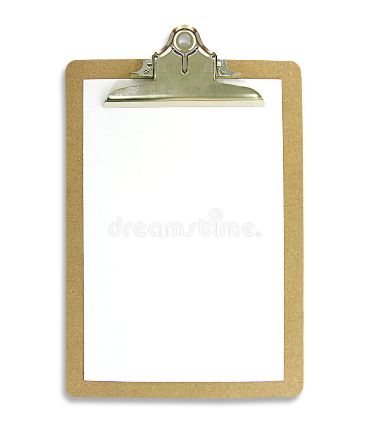Clipboard royalty free stock photo