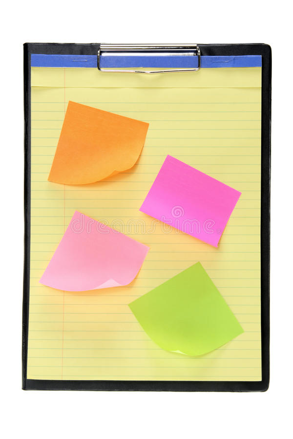 Download Clipboard With Adhesive Note Papers Stock Image - Image: 22003345